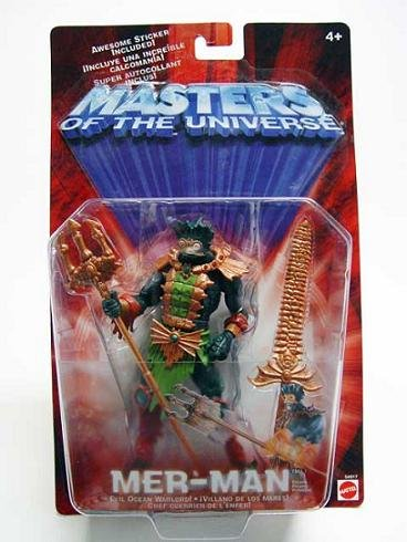 Mattel 54917: Mer-Man 200x MotU Modern Classic He-Man 2002 2003 Snake Men (Repaint)