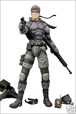 Mcfarlane Spawn Metal Gear SOLID SNAKE action figure MGS Konami RARE