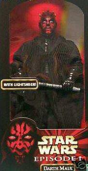Star Wars 12-Inch Darth Maul Doll Ep1 Lightsaber 1/6 Hasbro Sideshow