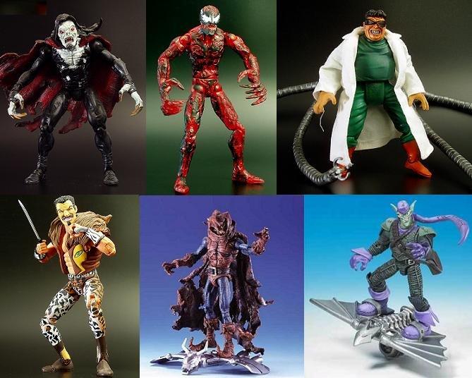 Marvel Legends Spider-Man Figures Set 7 Classic Villains CARNAGE Toy Biz