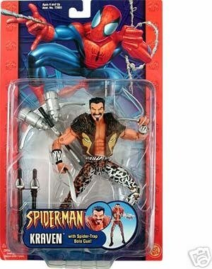 Spiderman Classic Kraven 6in figure| 2003 Marvel Legends Spider-Man action figure