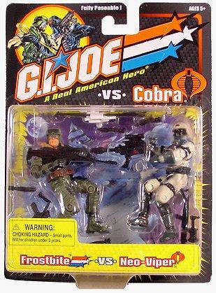 "Frostbite Neo Viper GI Joe vs Cobra 2-Pack 2002 Hasbro arah 20th 3.75"" 1:18"