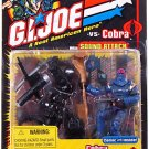 2002 Hasbro GIJoe 2-Pack 53228: Snake Eyes (v14) black variant vs. Cobra Commander (v13) ARAH MOC