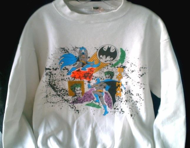 Vtg Batman Joker '89 Dark Knight Sweat Shirt: 80s 90s Ugly Sweater Style jumper L-XL: DC Comics