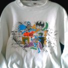 Batman/Joker VTG 1989 Tee L (XL) Promo Crewneck Xmas Sweater Shirt Neal Adams DC 80s 90s Dark Knight