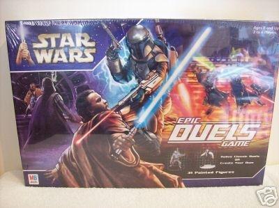 Star Wars Epic Duels/2002 Saga AotC + Miniatures (#40406 Hasbro) | MB Board Game OOP [Sealed]