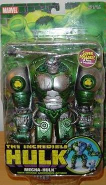 3 Marvel Incredible Hulk Figures Mecha-Hulk Savage Grey Joe Fixit 2004 Toybiz