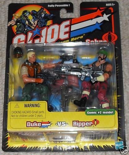 """Duke & Dreadnok Ripper Gi Joe vs Cobra 2002 2-Pack arah 20th Anniversary-Hasbro 3.75"""""""