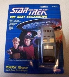 Star Trek TNG 1988 Galoob Electronic Phaser Weapon Prop Replica Vintage MOC