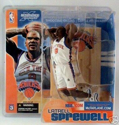 NY Knicks White Jersey Latrell Sprewell NBA Legends McFarlane Sports Action Figure