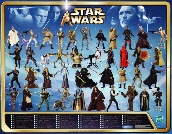 Star Wars Aotc Saga Collection Poster 2002 Hasbro Limited Edition Print
