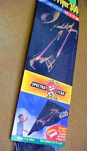 Luke X-Wing Vader Tie Fighter Death Star Star Wars Vintage 1994 Spectra Kite w/ flight line-winder