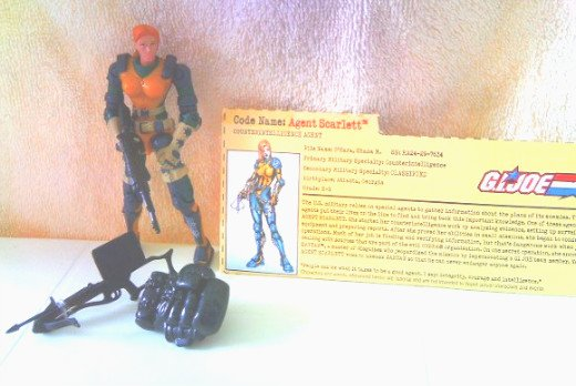 GI Joe vs Cobra Scarlett 2002 100% Complete w/FC ARAH 20th Anniversary
