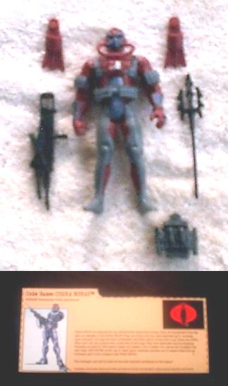 "GI Joe vs Cobra 3.75"" Moray Crimson Trooper (v3) Complete+File Card, Hasbro 2002 3 3/4"" AF"