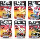G2 Gobot Autobot Cars Set (6) Spy Changers Clear (Crystal) Rid Transformers Universe