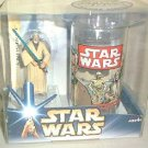 Obi-Wan Kenobi Figure & Cup Set, 2004 Star Wars (ANH) Vtg Coca-Cola Glass (1977) Burger King