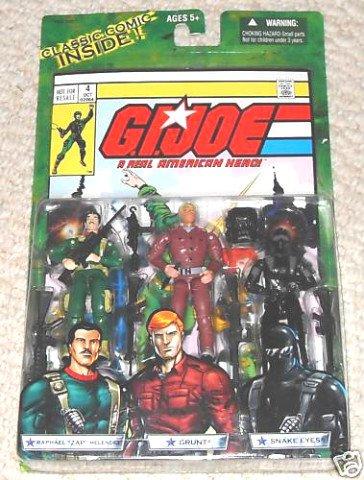 Hasbro 60496: GI Joe vs Cobra Comic 3 Pack Marvel #4 > Zap Grunt Snake Eyes ARAH Valor vs Venom