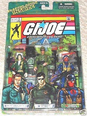 """GI Joe 60498 Marvel Comic 3 Pack Issue #5: Steeler/ Flagg/ Cobra Officer (ARAH 3.75"""")"""