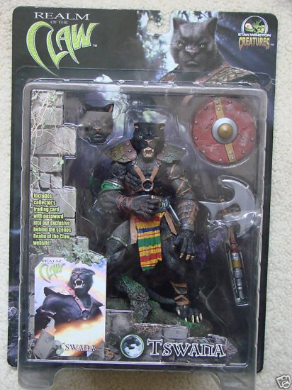 "Stan Winston Creatures Tswana 8"" NECA 2001 Realm of Claw � Four Horsemen Mythic Legions/MOTU"