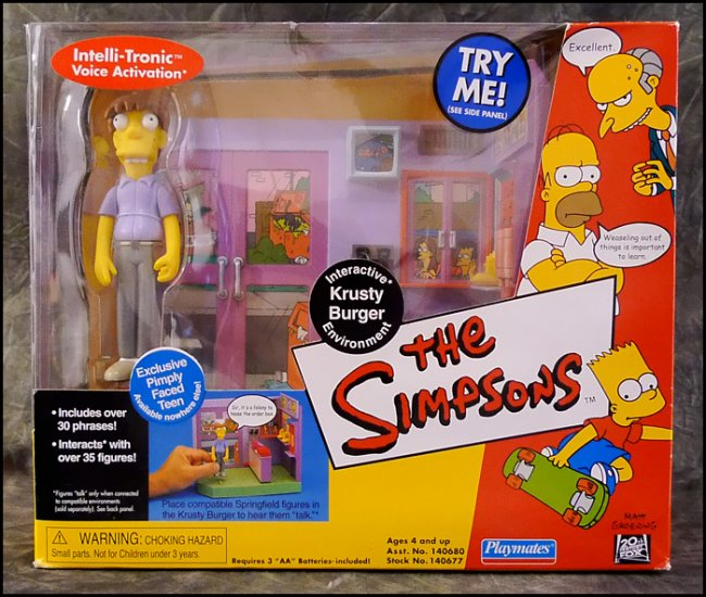 Simpsons Krusty Burger [Error Variant] Playset Playmates Toys 140677 WoS World of Springfield