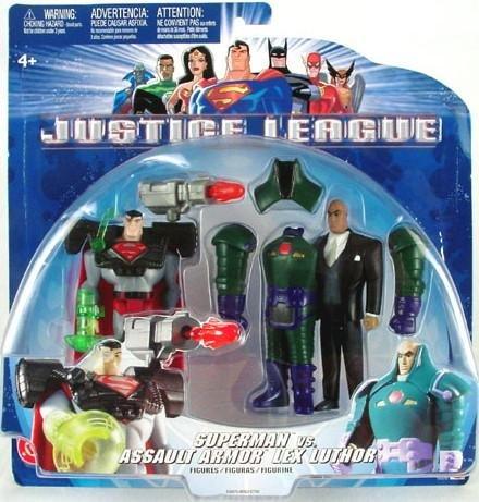 Mattel B4970 Justice League Unlimited JLU TAS Superman/Lex Luthor Assault Armor Suit 2-Pack MOC 2003