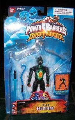 "Bandai DinoThunder 10707: Evil Space Aliens: Power Rangers 5"" Sentai Triptoid action figure (2003)"