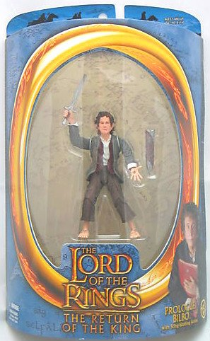 "Hobbit Bilbo Baggins 6"" action figure w/ Sting-LotR Toy Biz-Gentle Giant Lord Rings"