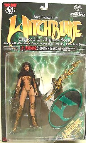 """Moore Top+Cow Witchblade Gold Variant Toyfare 6"""" figurine (Turner Art)"""
