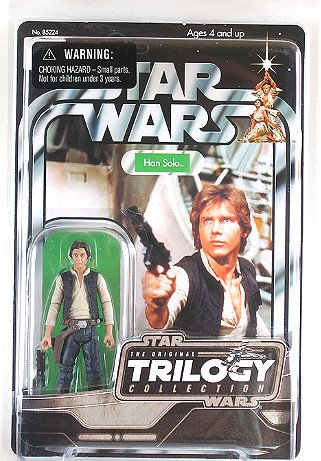 "Star Wars 85224 Vintage Collection VOTC Han Solo (Original Trilogy: ANH) 2004 Kenner 3.75"" MOC"