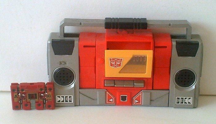Transformers G1 Toy Lot: Autobot Blaster + Cassette GrandSlam Vintage 80s Original