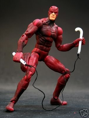 Spiderman Classic Daredevil 6in Figure, Marvel Legends 2003 Toybiz 72009