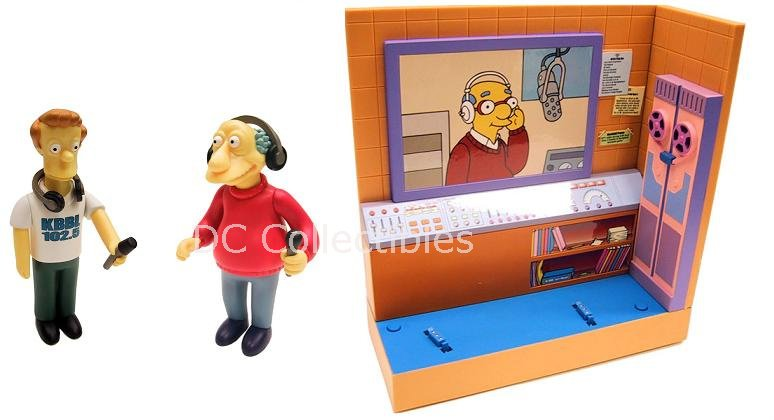 The Simpsons WoS: KBBL + Marty / Bill Exclusive Interactive Figure Playset (MIB) 99183 Playmates