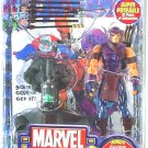 "2004 ToyBiz Marvel Legends Series VII/7 Hawkeye 6"" AF + Avengers comic #223"