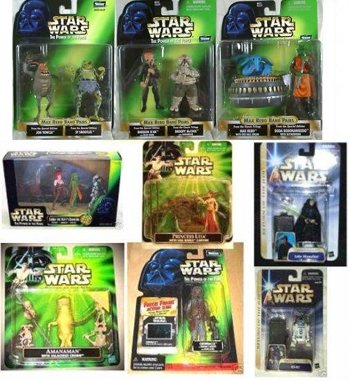 Jabba's Palace Throne Room 15 Kenner Star Wars figures Max Rebo Band