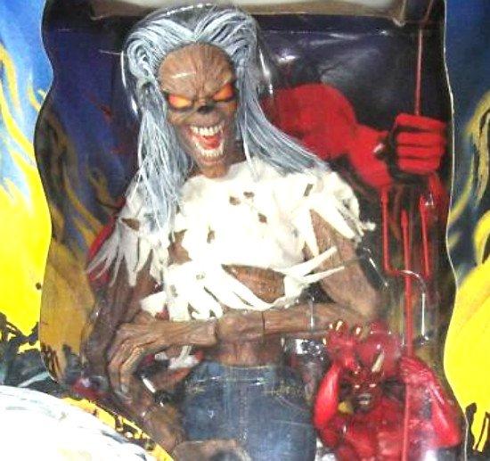 "Iron Maiden Eddie 18"" figure + Devil 1/4 Premium Format-'02 Art Asylum Neca Doll [Sideshow Hot Toys]"