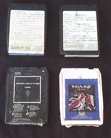 The Who-Fleetwood Mac-ELP 8 Track Tape Lot | Vtg 70s Classic Rock (Pre Quad Q8)