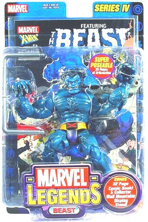 "Marvel Legends 70379: Beast Series IV 4 Toybiz 2003 Jim Lee's X-men 6"" Action Figure"