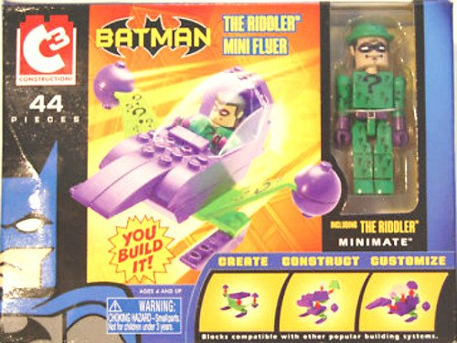 C3 (Lego) Batman-DC Minimates Riddler Dark Knight Mini Flyer-JLA Justice League