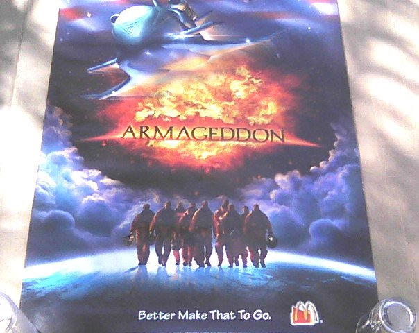 armageddon poster 1998 movie promo bruce willis ben affleck