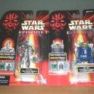 "Star Wars Ep1 TPM > TC-14 & R2-B1 Astromech/Protocol Droids Set CommTech 1999 Hasbro 3.75"""
