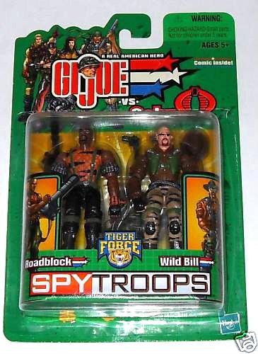 """Spy Troops G.I. Joe 2003 Tiger Force Roadblock Wild Bill 2-Pack 3.75"""" Hasbro 56915"""
