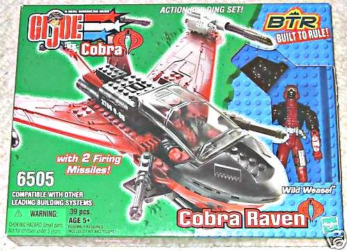 GI Joe Kit 6505 Btr (Lego) Vehicle Cobra Raven Wild Weasel (MISB)  2003 Hasbro Built to Rule