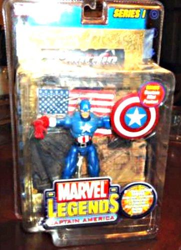 "Captain America (Classic Variant) Toybiz Marvel Legends 6"" Series 1 Avengers Action Figure"