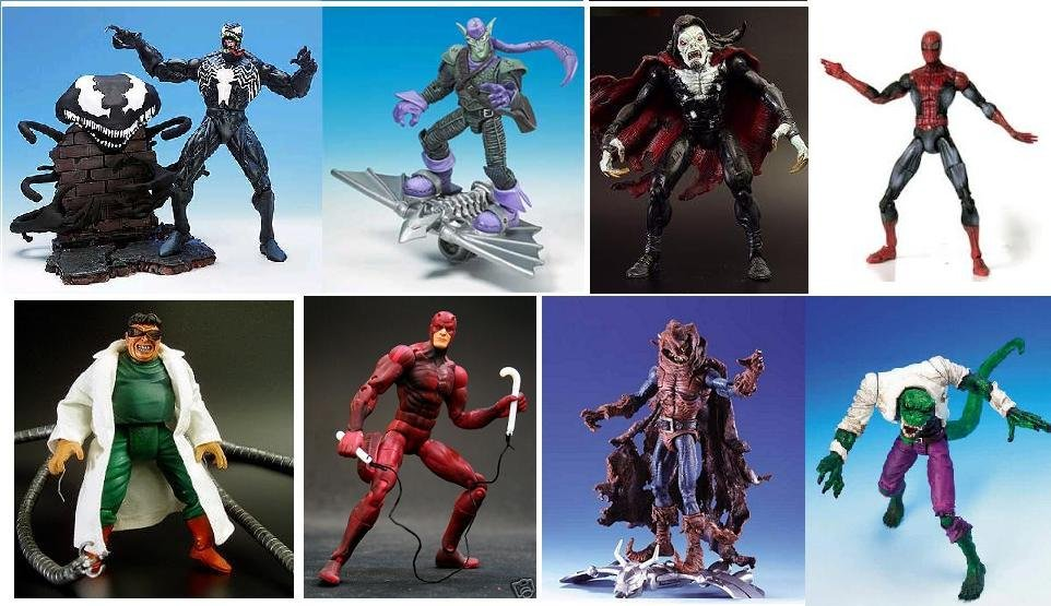 """Foes of Spider-Man Marvel Legends 6"""" Scale Sinister Six-McFarlane Spiderman-Red Daredevil Classics"""