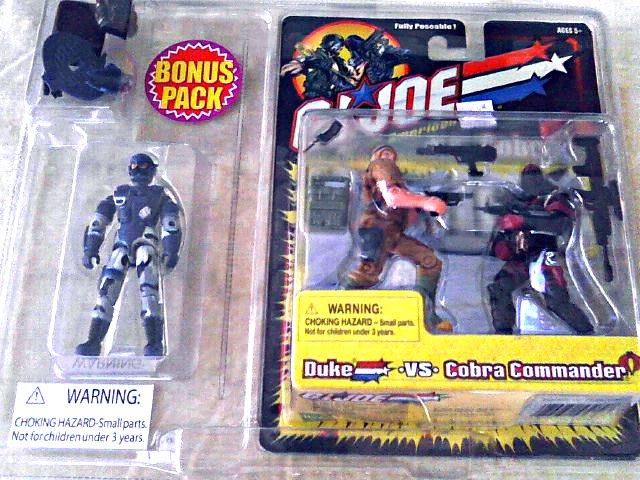"Hasbro 57450: GI Joe Bonus 3-Pack > Alley Viper Duke Cobra Commander 3.75"" 2002 Kmart Exclusive"