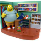 The Simpsons Comic Book Shop Playset Exclusive Comic Book Guy Figure Playmates 99126 WOS Interactive