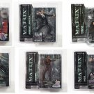 McFarlane Matrix Series 1 & 2 Set: Reloaded Morpheus 2003 Neo, Trinity Action Figures