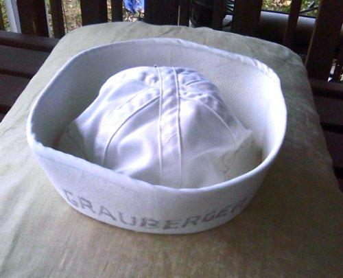 WW2-USN Navy Uniform-Vintage Sailor Cap-WWII Dixie Cup Hat-Cracker Jack