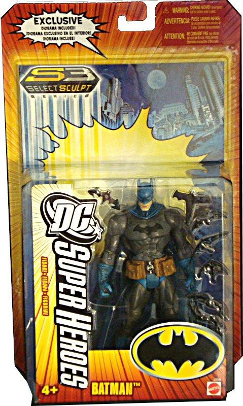 """DC Super-Heroes S3 Select Sculpt: Batman 6"""" Mattel J2008 Universe Classics"""
