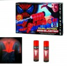 Spiderman 2 Movie Costume, Dual Web Shooter Glove & 4 Cans Web Fluid Marvel Cosplay Roleplay Set